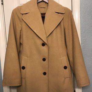 Calvin Klein Single Breasted Overcoat
